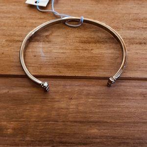 NWT- Tory Burch Skinny T Logo Cuff Bracelet